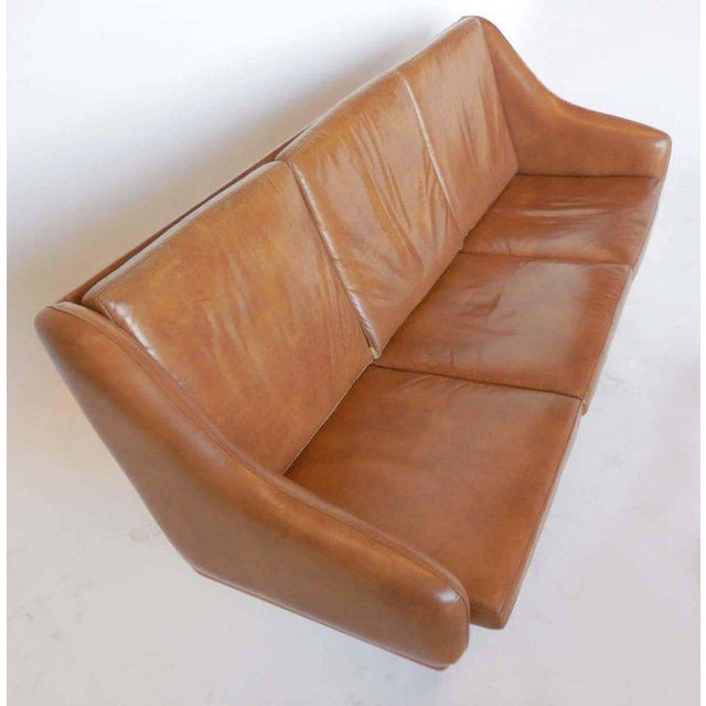 Danish Leather Sofa by Poul Volther For Sale In Los Angeles - Image 6 of 9