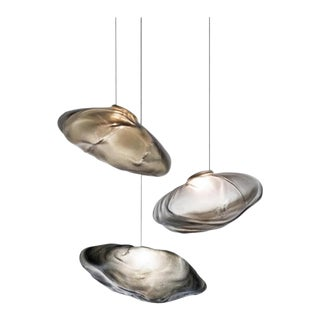 "Contemporary Bocci Bubble 12 Pendants Chandelier 23""x73"" For Sale"