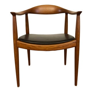 Authentic Hans Wegner the Round Chair for Johannes Hansen - Made in Denmark For Sale