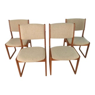 Danish Modern Dining Chairs by Benny Linden, Set of 4 For Sale
