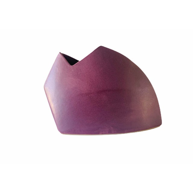 Beautiful modernest ceramic vase by Jim Johnston. Designed in the 1980s, this piece with beautiful lines, features...