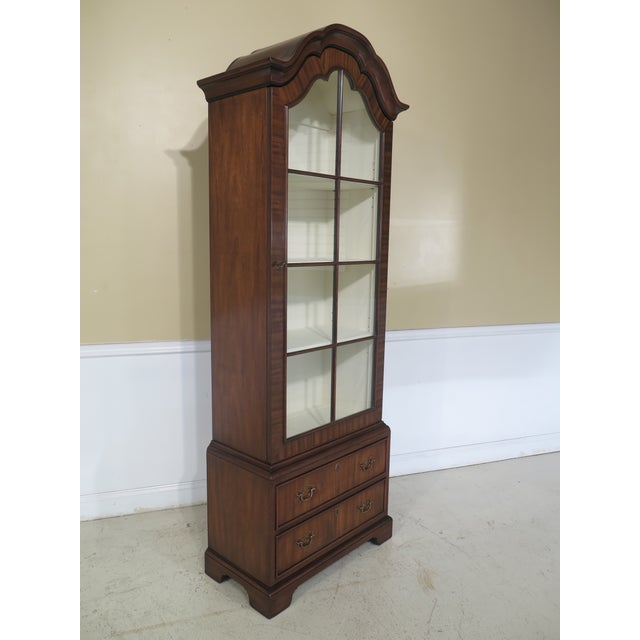 Brown Kittinger Mahogany Bookcase Display Cabinet For Sale - Image 8 of 11