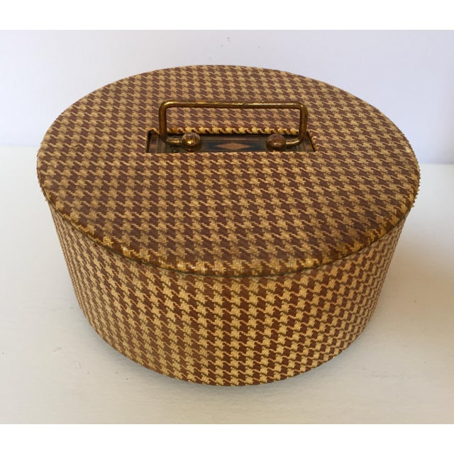 Gold Vintage Poker Chip Carousel Wood Caddy With Cover For Sale - Image 8 of 10