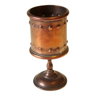 Vintage Copper Filigree Goblet or Cup For Sale