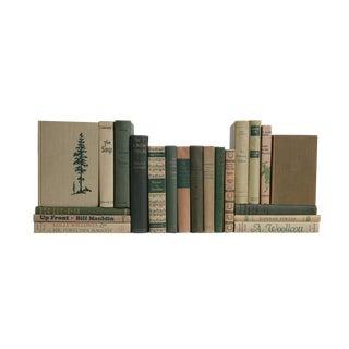 Midcentury Khaki & Green MIX - Set of Twenty Decorative Books