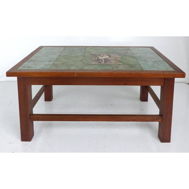 1940 Vintage Johannes Meyer Tile Top Table - Image 3 of 11
