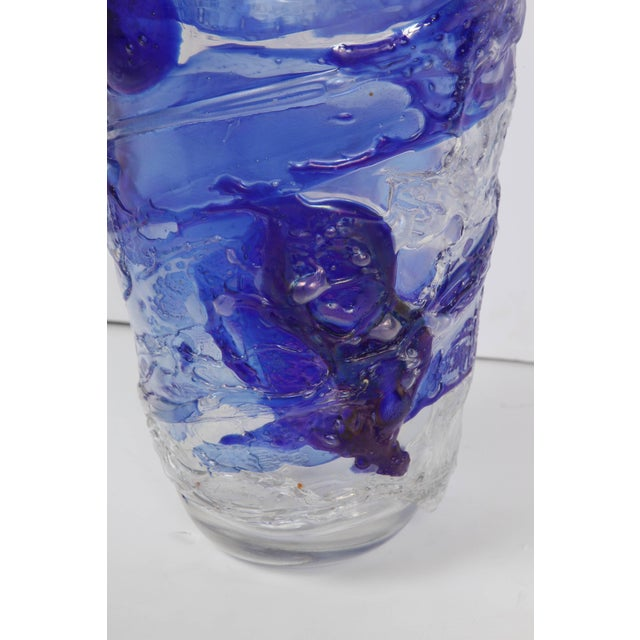 Mid 20th Century Murano Glass Vase For Sale - Image 5 of 11