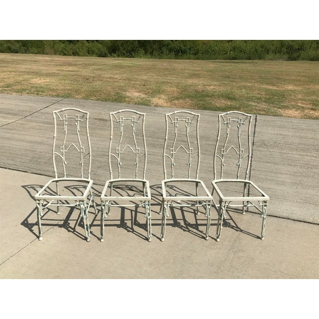 1960s Mid-Century Modern Kessler Industries Cast Aluminum Faux Bamboo Dining Set - 5 Piece Set For Sale In Dallas - Image 6 of 12