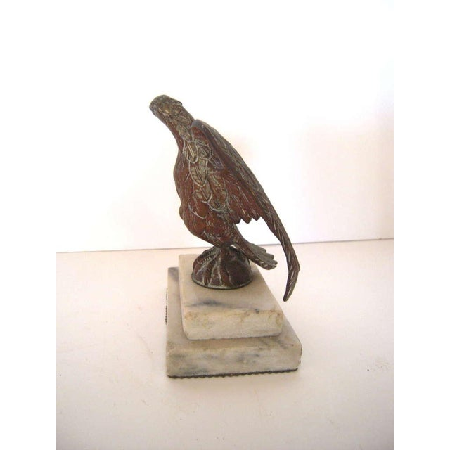 Patriotic Brass American Eagle Sculpture on Marble Base - Image 5 of 9