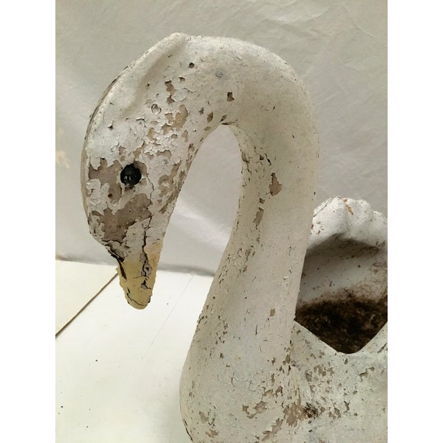 Concrete Vintage Concrete Garden Swan Planter For Sale - Image 7 of 11