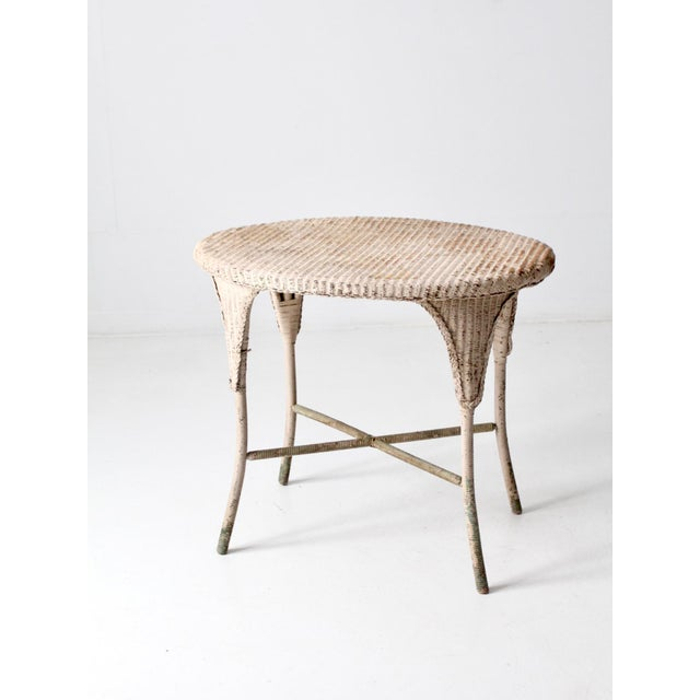 Antique Wicker Side Table For Sale - Image 13 of 13