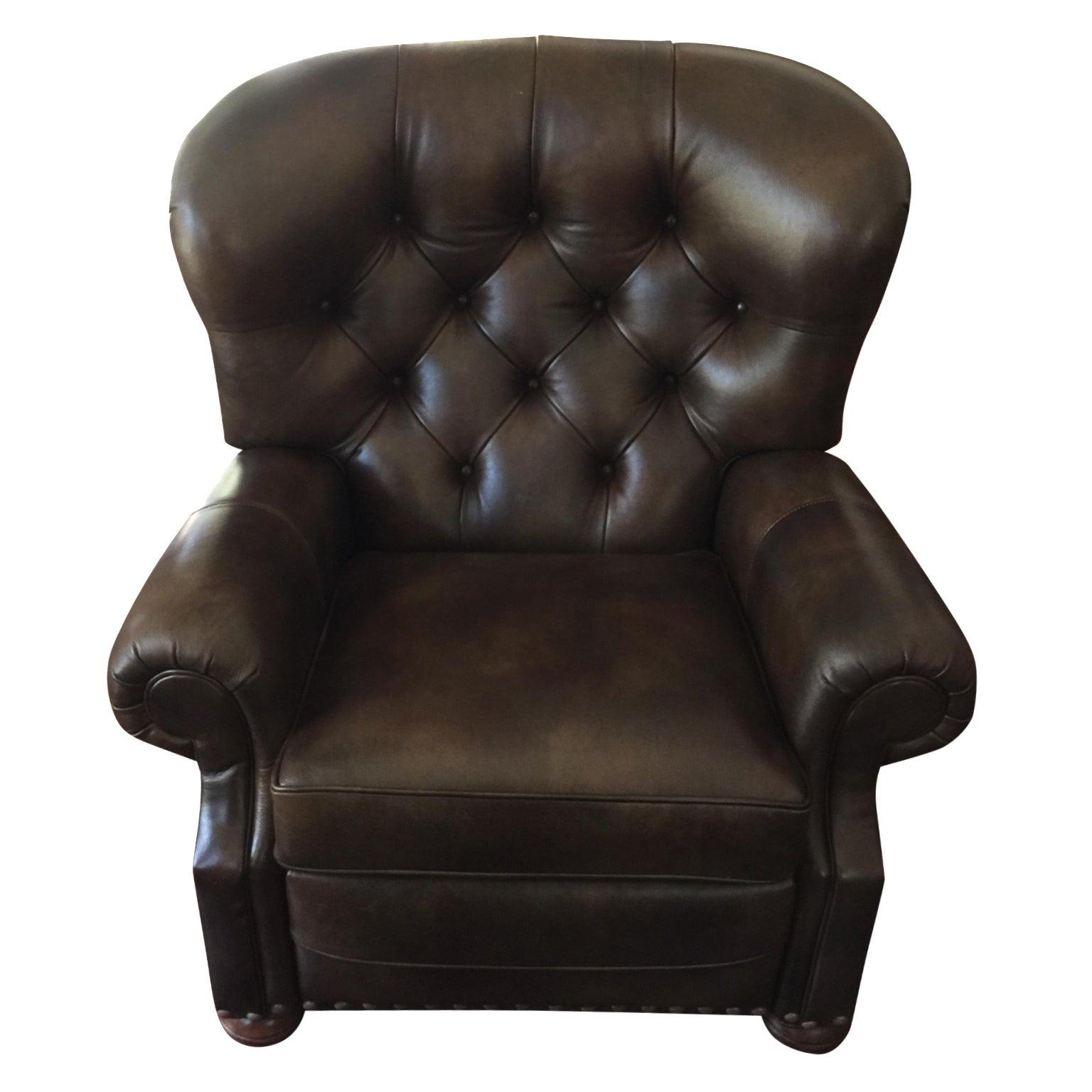 Astounding Ethan Allen Cromwell Leather Recliner Short Links Chair Design For Home Short Linksinfo