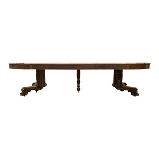 """Exceptional Antique """"Old New Orleans"""" Mahogany Dining Table From Local Estate, Circa 1860-1880. For Sale"""