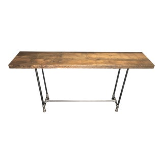 Reclaimed Douglas Fir Wood & Pipe Leg Console Table