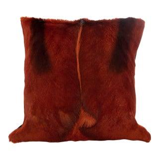 Springbok Pillow in Cognac For Sale