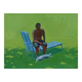 """Resting in the Shade"", Stephen Remick Contemporary Painting For Sale"