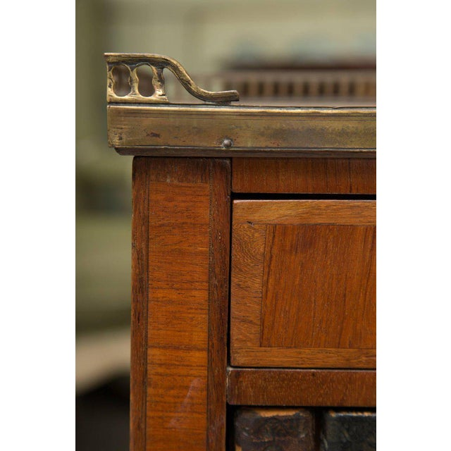 Gold Pair of Mahogany Louis XVI Style Cabinets For Sale - Image 8 of 11