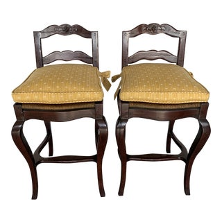 21st Century Sterling Collection French Country Barstools - a Pair For Sale