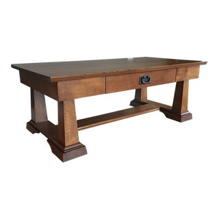 Arts & Crafts/Prairie Style Oak Coffee Table