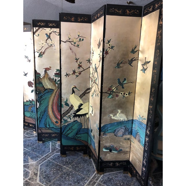 Metal Early 20th Century 8-Panel Coromandel Screen For Sale - Image 7 of 13