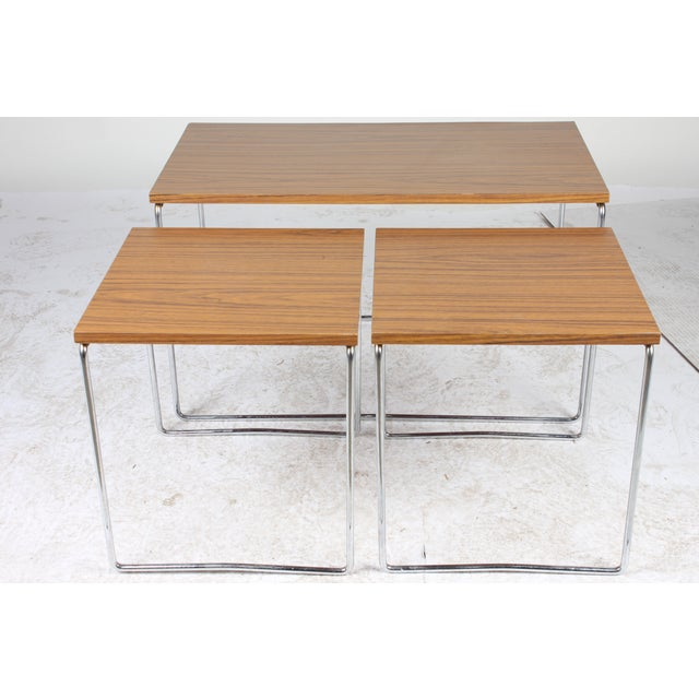 Mid-Century Modern Nesting Tables - Set of 3 - Image 5 of 6