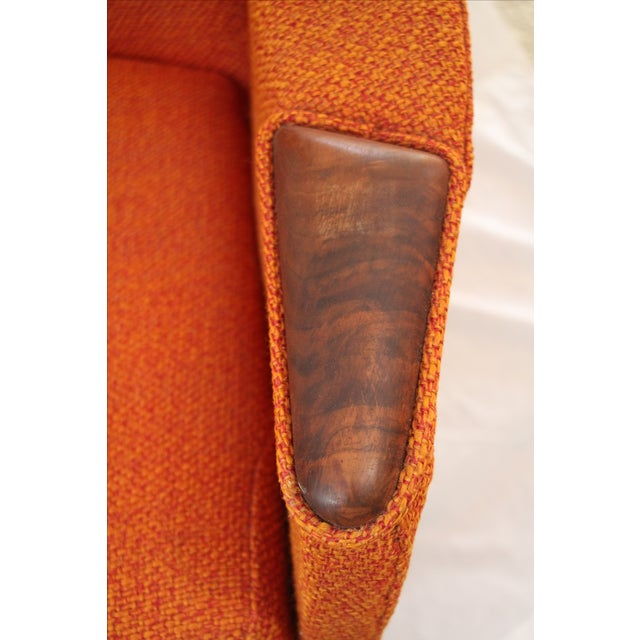 Adrian Pearsall Orange Highback Lounger - Image 2 of 5