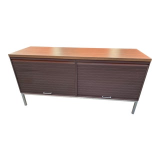 Industrial Steelcase Metal Credenza For Sale