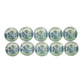 Vintage Mid-Century Schweppes Chinoiserie English Coasters - Set of 10 For Sale