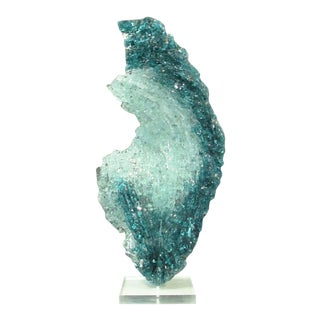"Abstract Large Glass and Acrylic Sculpture, "" Strata"" by John J. Denis For Sale"