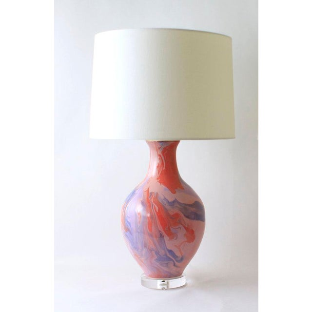 """Purple Paul Schneider Ceramic """"Athens"""" Lamp in Geode Lilac and Powder Glaze For Sale - Image 8 of 8"""
