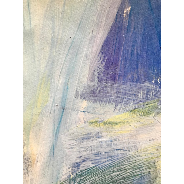 """Patricia Zippin View Through the Window 1980s Mixed Media 20""""x 14.25"""", unframed Excellent Condition- Minor wear consistent..."""