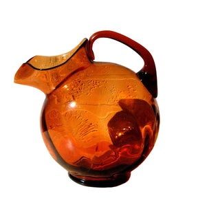 Cambridge Amber Glass Pitcher Jug