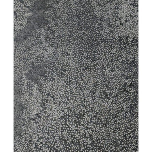 Textured Black Faux Shagreen Patterned Wallpaper For Sale