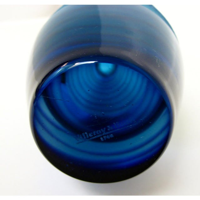 Blown Glass Villeroy & Boch Glass Vase For Sale - Image 7 of 7