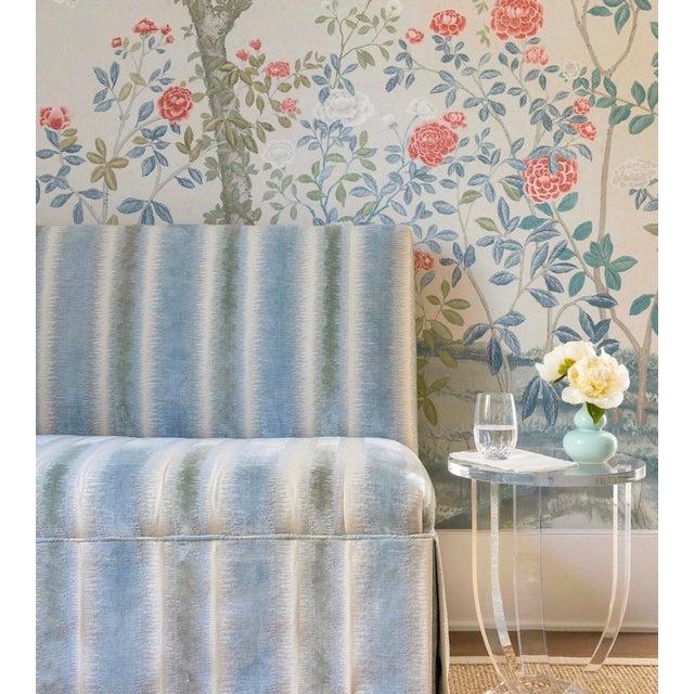 Brunschwig & Fils Bromo Velvet Upholstered Swivel Chair For Sale - Image 9 of 10