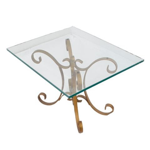 Hollywood Regency Regency Glass Top Side Accent Tables - A Pair For Sale - Image 3 of 7