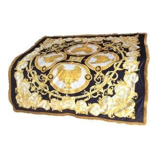 Gianni Versace Custom Velvet Throw For Sale