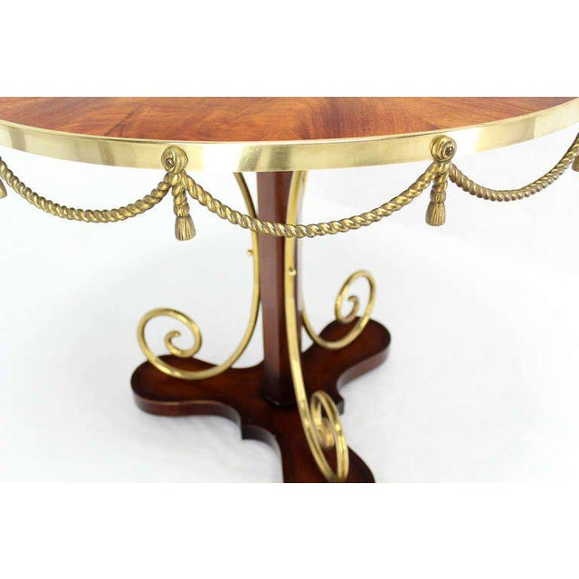 Early 20th Century Vintage Neoclassical Bronze Ormolu Center Table For Sale - Image 4 of 9