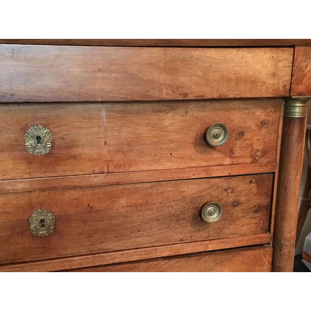 C. 1810 French Provincial Empire Walnut & Ormolu Commode - Image 3 of 11
