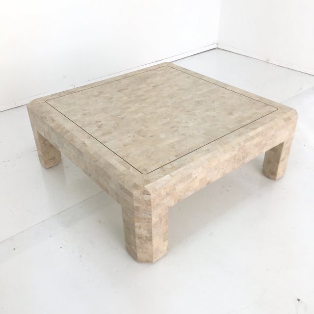 Art Deco Maitland Smith Tessellated Stone Coffee Table For Sale - Image 13 of 13