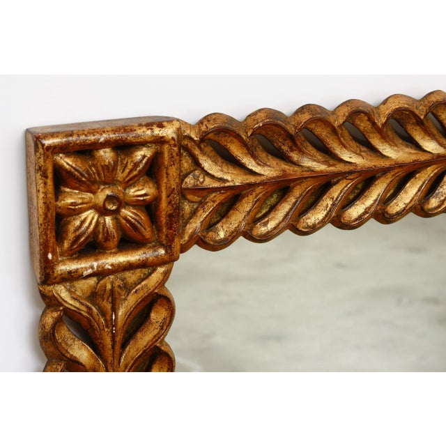 French Gilt Carved Mirror by Harrison and Gil For Sale - Image 3 of 13