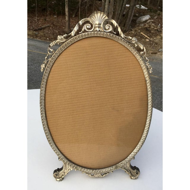 Early 20th Century Art Nouveau/Art Deco Silver Gilded Standing Photo Frame For Sale - Image 13 of 13