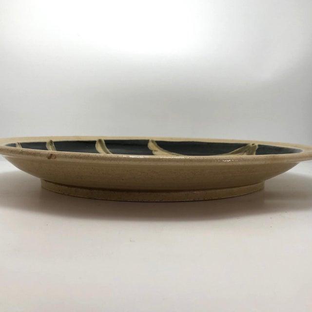 1970s Vintage Studio Pottery Platter For Sale - Image 9 of 13