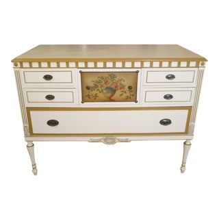 Berkey & Gay Hand-Painted Commode For Sale