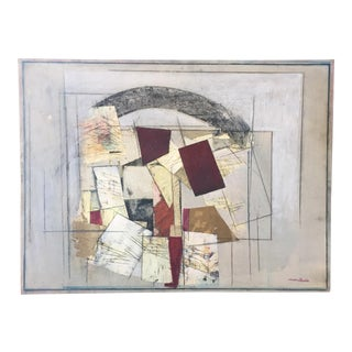 Ronald Ahlstrom Abstract Painting Collage