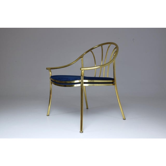 20th Century French Vintage Brass Armchair, 1970-1980 For Sale - Image 12 of 13