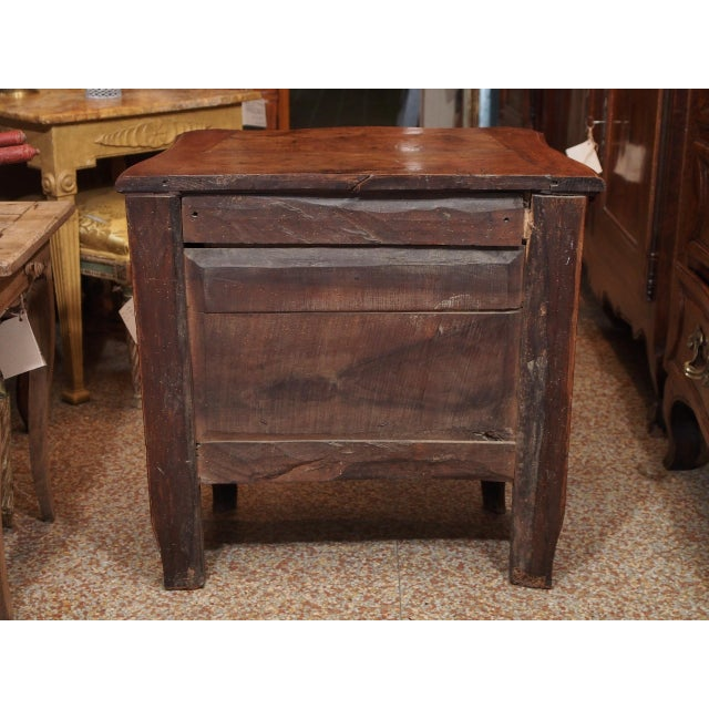 Brown 18th Century Small French Two Drawer Commode For Sale - Image 8 of 8