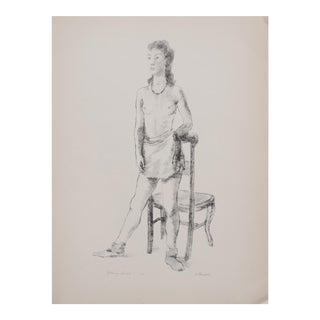 "Alexander Brook ""Young Girl"" Lithograph, 1939"