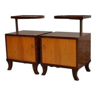 "Pair of Swedish Art Deco Functionalist ""Funkis"" Nightstands For Sale"