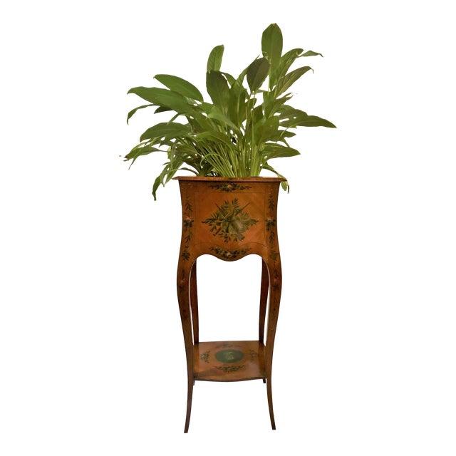 Antique English Adam Design Satinwood Jardiniere. For Sale